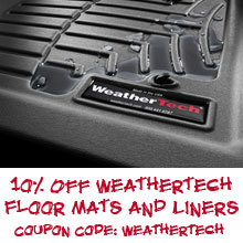 10% Off Weathertech Floor Mats and Liners
