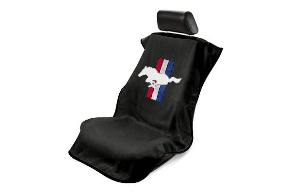 svcustoms seat armour sa100ponb ford mustang pony black towel seat cover. Black Bedroom Furniture Sets. Home Design Ideas