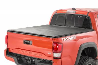 Rough Country - Rough Country RC44716501 Soft Tri-Fold Tonneau Bed Cover
