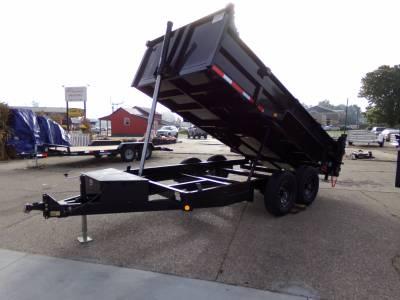 Quality Steel & Aluminum  - 2022 Quality Steel & Aluminum 7x14 Low Profile Dump Trailer 14K Telescopic