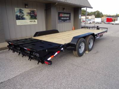 Sure-Trac Trailers - 2022 Sure-Trac 7x17+3 Universal Ramp Implement Trailer 14K
