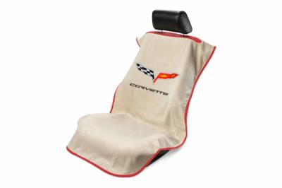 Seat Armour - Seat Armour Corvette C6 Tan Towel Seat Cover
