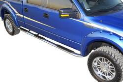Exterior Accessories - Side Steps and Nerf Bars - Westin - Westin 24-54000 Platinum Series 4 in. Oval Wheel-To-Wheel Step Bar