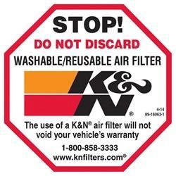 Decal - Decal - K&N Filters - K&N Filters 89-16063-1 Decal