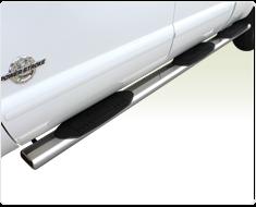 "Raptor - Raptor Magnum 6"" Wheel To Wheel Polished Stainless Oval Tubes Chevrolet Silverado 07-16 Crew Cab 5'8"" Bed (Rocker Panel Mount) - Image 2"
