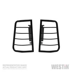 Exterior Lighting - Tail Light Guard - Westin - Westin 39-3035 Sportsman Tail Light Guard Black