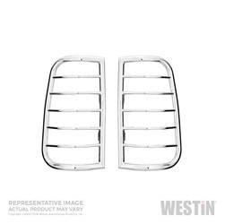 Exterior Lighting - Tail Light Guard - Westin - Westin 39-3380 Sportsman Tail Light Guard Chrome