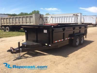 Trailers - Dump - Quality Steel & Aluminum  - 2019 7x16 CJ Heavy Hauler Dump Trailer