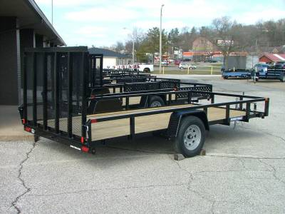 Trailers - Sure-Trac Trailers - 2020 Sure-Trac 7x14 Tube Top Utility Trailer 3K