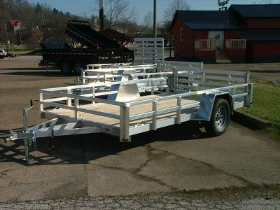 Trailers - Quality Steel & Aluminum  - 2020 Quality Steel & Aluminum 80x12 Deluxe Aluminum Utility Trailer 3.5K