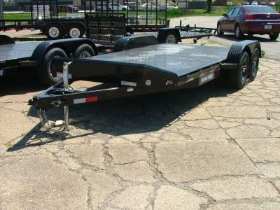 Trailers - Sure-Trac Trailers - 2020 Sure-Trac 7x18 Steel Deck Car Hauler 7K