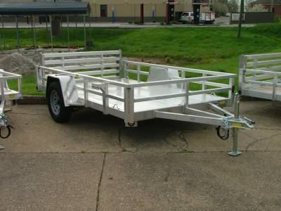 Trailers - Quality Steel & Aluminum  - 2020 Quality Steel & Aluminum 74x10 Deluxe Aluminum Utility Trailer 3.5K