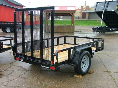 Trailers - Sure-Trac Trailers - 2020 Sure-Trac 5x8 Tube Top Utility Trailer 3K