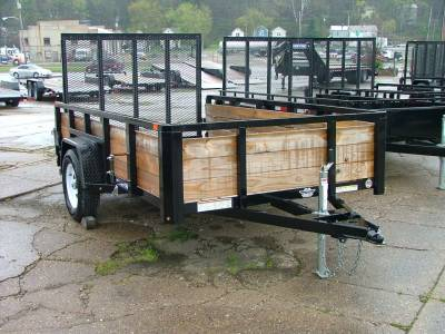 Trailers - Sure-Trac Trailers - 2020 Sure-Trac 6x10 Tube Top 3 Board High Side Utility Trailer 3K