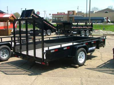 Trailers - Sure-Trac Trailers - 2020 Sure-Trac 6x12 Tube Top Steel High Side Trailer 3K