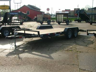 Trailers - Sure-Trac Trailers - 2020 Sure-Trac 7x18 C-Channel Car Hauler 7K