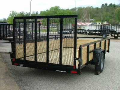 Trailers - Sure-Trac Trailers - 2020 Sure-Trac 7x12 Tube Top 3 Board High Side Utility Trailer 3K