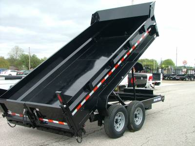 Trailers - Sure-Trac Trailers - 2020 Sure-Trac 7x14 HD Low Profile Dump Trailer 14K Dual Ram