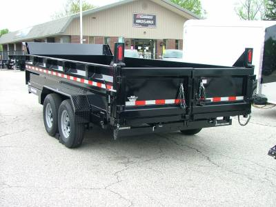Trailers - Sure-Trac Trailers - 2020 Sure-Trac 7x16 HD Low Profile Dump Trailer 14K Dual Ram