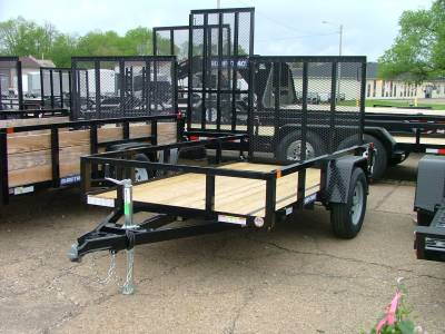Trailers - Sure-Trac Trailers - 2020 Sure-Trac 5x10 Tube Top Utility Trailer 3K