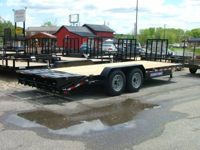 Trailers - Sure-Trac Trailers - 2020 Sure-Trac 7x17+3 Universal Ramp Implement Trailer 16K