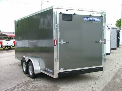 Trailers - Sure-Trac Trailers - 2020 Sure-Trac 7x16 Pro Series Wedge Front Cargo Trailer 7K