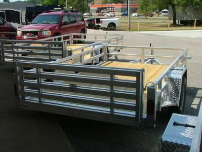 Trailers - Quality Steel & Aluminum  - 2020 Quality Steel & Aluminum 74x10 Deluxe Aluminum Utility Trailer 3.5K