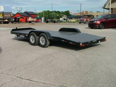 Trailers - Sure-Trac Trailers - 2021 Sure-Trac 7x20 Steel Deck Car Hauler 10K