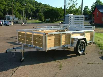 Trailers - Sure-Trac Trailers - 2021 Sure-Trac 6x10 Aluminum Tube Top 3 Board High Side Utility Trailer 3K