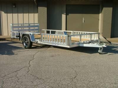 Trailers - Sure-Trac Trailers - 2021 Sure-Trac 7x14 Aluminum Tube ATV Top Trailer 3K