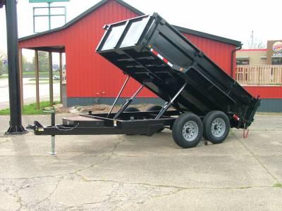 Trailers - Quality Steel & Aluminum  - 2021 Quality Steel & Aluminum 7x12 CJ Heavy Hauler Dump Trailer 14K Dual Ram