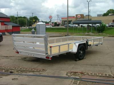 Trailers - Sure-Trac Trailers - 2021 Sure-Trac 7x14 Aluminum Tube Top Utility Trailer 3K