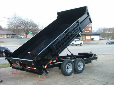 Trailers - Quality Steel & Aluminum  - 2021 Quality Steel & Aluminum 7x14 Low Profile Dump Trailer 14K Dual Ram