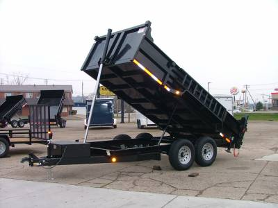 2022 Quality Steel & Aluminum 7x14 Low Profile Dump Trailer 14K Telescopic