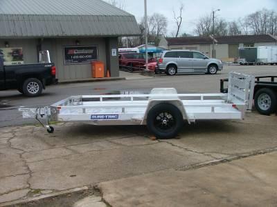 Trailers - Sure-Trac Trailers - 2021 Sure-Trac 7x12 Aluminum Low Side Utility Trailer 3K