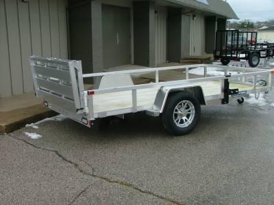 Trailers - Sure-Trac Trailers - 2021 Sure-Trac 6x12 Aluminum Tube Top Utility Trailer 3K