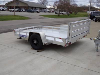 Trailers - Sure-Trac Trailers - 2021 Sure-Trac 7x10 Aluminum Low Side Utility Trailer 3K