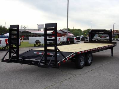 Trailers - Sure-Trac Trailers - 2021 Sure-Trac 8.5x20+4 Gooseneck Standard Duty Beavertail Deckover 15K