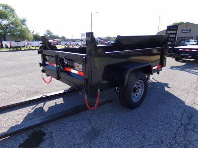 Trailers - Quality Steel & Aluminum  - 2022 Quality Steel & Aluminum 5x8 Low Profile Dump Trailer 6K Dual Ram