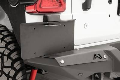 License Plate Accessories - License Plate Bracket - Fab Fours - Fab Fours M4550-B Rear Bumper License Plate Bracket
