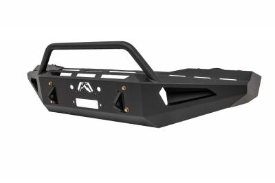Fab Fours - Fab Fours DR03-RS1062-1 Red Steel Front Bumper - Image 2