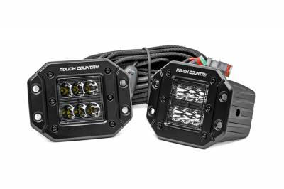 Exterior Lighting - Exterior LED Kit - Rough Country - Rough Country 70803BL Cree Black Series LED Light