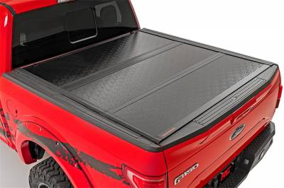 Rough Country - Rough Country 47113550 Hard Tri-Fold Tonneau Bed Cover - Image 2