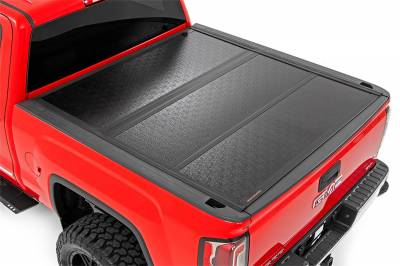 Rough Country - Rough Country 47119551 Hard Tri-Fold Tonneau Bed Cover - Image 1