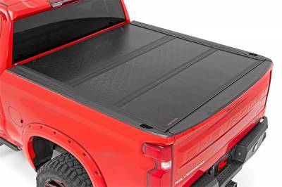 Rough Country - Rough Country 47120580 Hard Tri-Fold Tonneau Bed Cover - Image 1