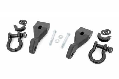 Trailer Hitch Accessories - Tow Hook Mount - Rough Country - Rough Country RS156 Tow Hook To Shackle Conversion Kit