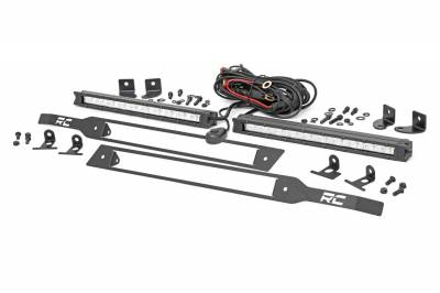 Exterior Lighting - Exterior LED - Rough Country - Rough Country 70818 Dual LED Grille Kit