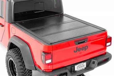 Rough Country - Rough Country 47620500 Hard Tri-Fold Tonneau Bed Cover - Image 1
