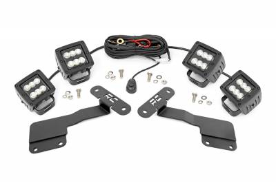 Exterior Lighting - Exterior LED Kit - Rough Country - Rough Country 70852 LED Lower Windshield Ditch Kit