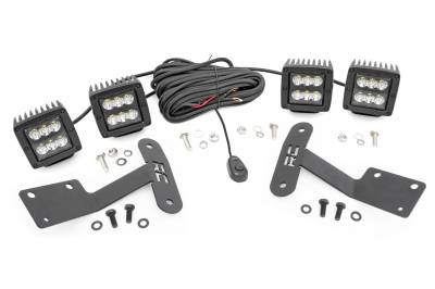 Exterior Lighting - Exterior LED Kit - Rough Country - Rough Country 70835 LED Lower Windshield Ditch Kit